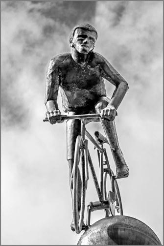 cyclist statue