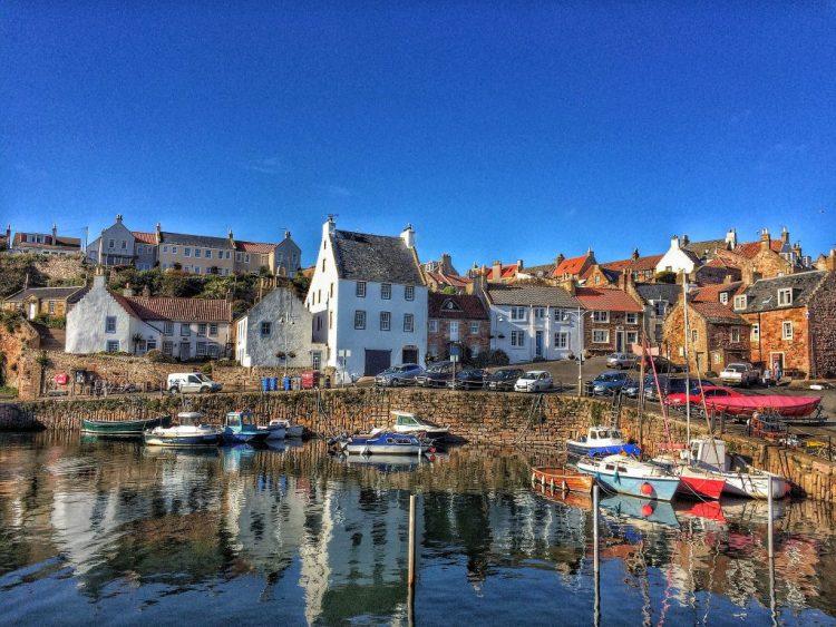 Crail harbour Fife