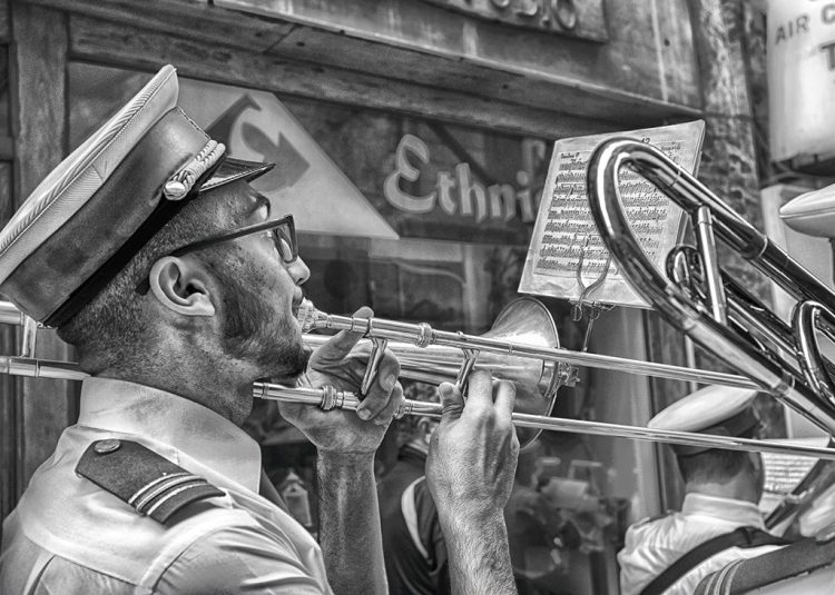 Trombone Player St Augustine feast Valletta