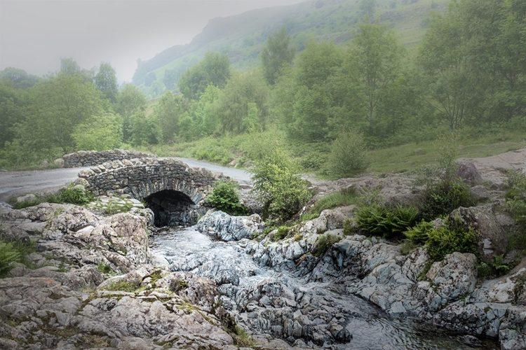 Ashness Bridge Keswick Borrowdale Lake district Cumbria