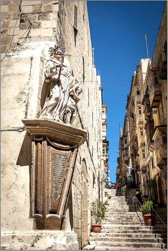 Valletta Street Corner steps Malta