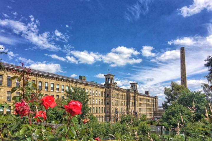 Salts Mill Saltaire UNESCO world heritage site Saltaire England Yorkshire
