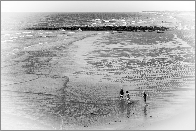 Seaside Holiday Blackpool monochrome