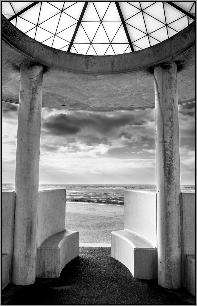 Seats in the Shelter Art Deco Cleveleys lancashire coast Fylde