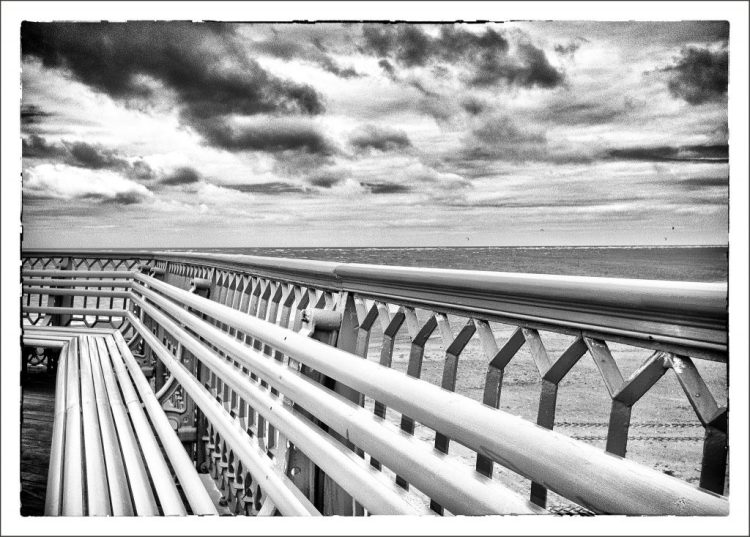 Parallel Lines on the Pier Fylde coast St Annes