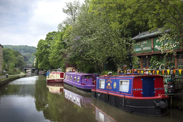 A Day in the Life moorings Hebden Bridge Rochdale Canal