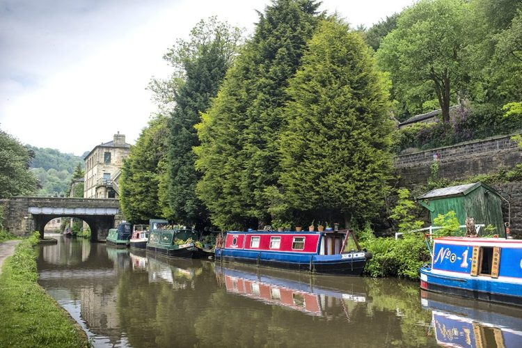 Number 1 Boat Hebden Bridge Rochdale Canal Yorkshire
