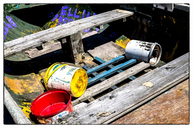 Yoghurt Pots in a Rowing Boat Lytham