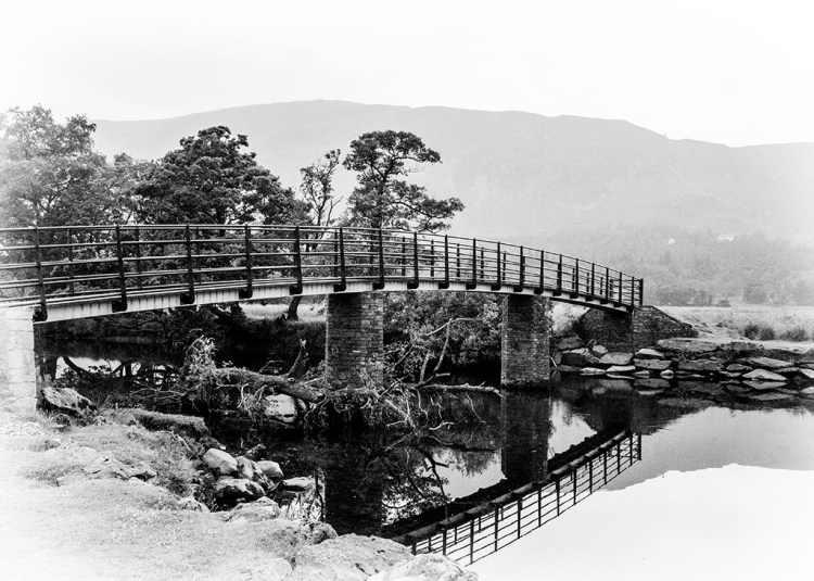 "The ""Chinese"" Bridge to Manesty Borrowdale Derwentwater Lake District"