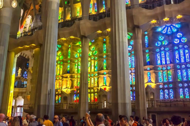 Stained glass Sagrada Familia Barcelona windows