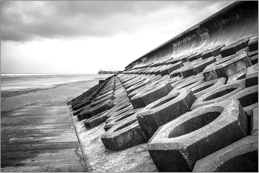 The Shoreline perspective monochrome