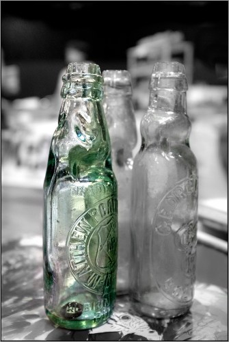 glass Green Bottle