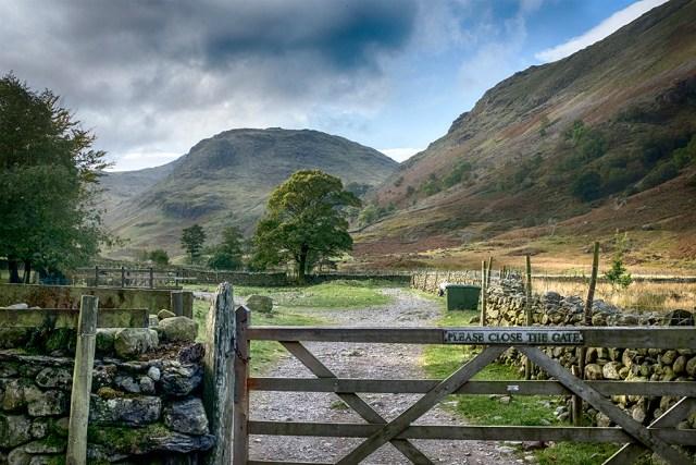 gate fells lakeland Cumbria Seathwaite farm