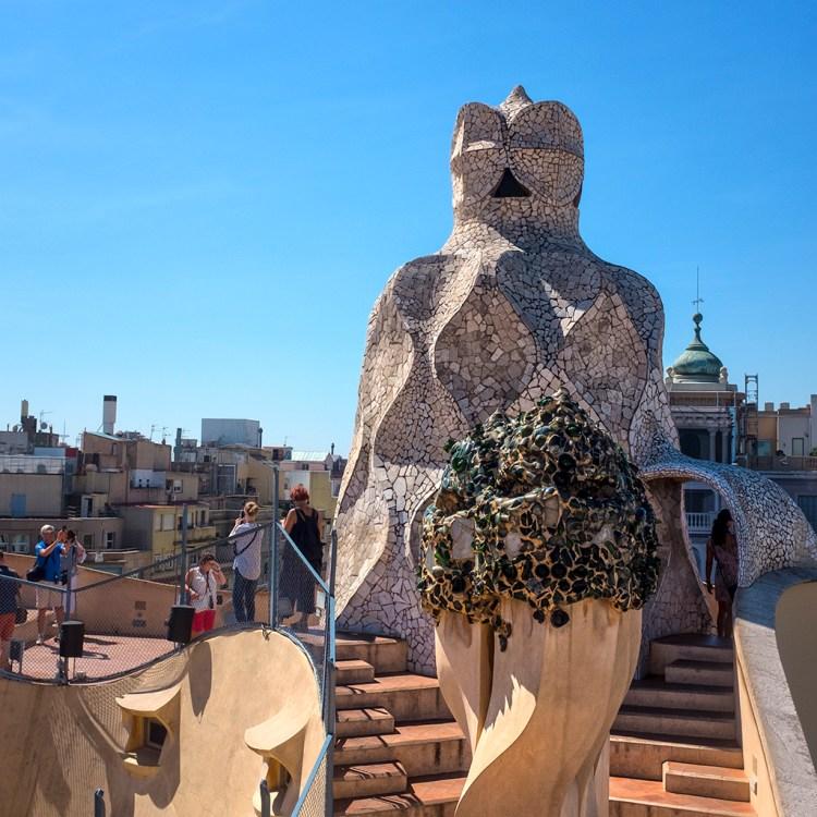 La Pedrera Rooftop Barcelona Gaudi chimney-pots