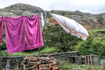 washing line Borrowdale Seathwaite farm