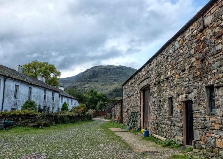 Seathwaite Farm Borrowdale Valley Cumbria Lakeland fells