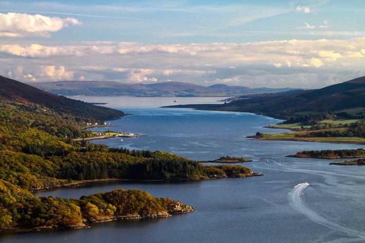 Kyles of Bute Scotland Scenery landscape Cowal Peninsula