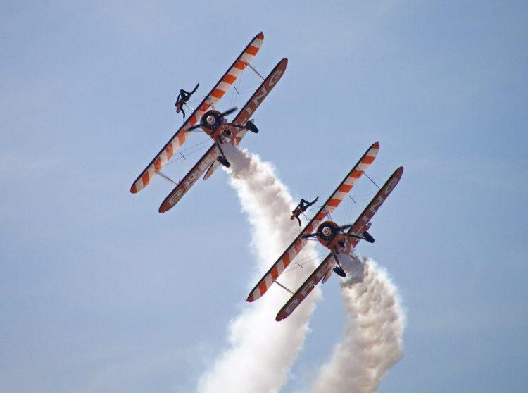 Aerial Acrobatics Breitlind Blackpool air show