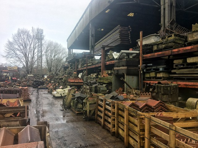 Roofing Materials and an Old Bath Victorian Salvage yard
