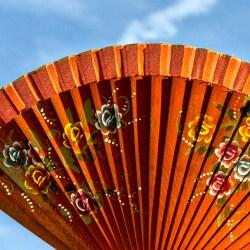 Orange Fan Blue Sky random