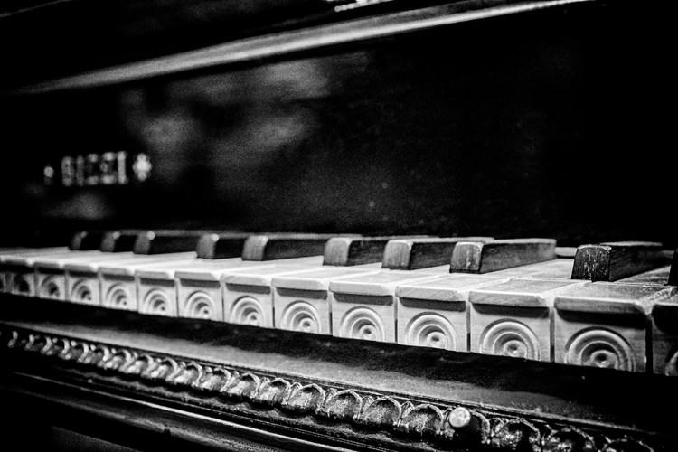 Keys on a Harpsichord, monochrome, Black & white, Musical, . instrument