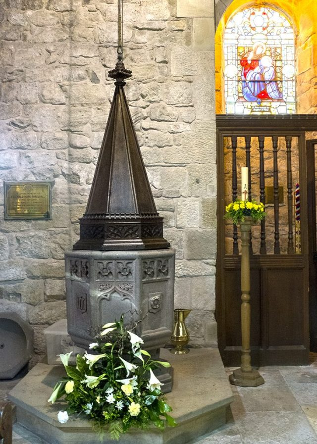 Font , St Annes church, Woodplumpton,