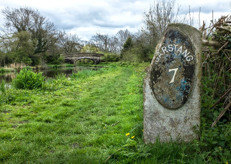 Garstang 7 Miles milestone Lancaster Canal towpath wordless wednesday