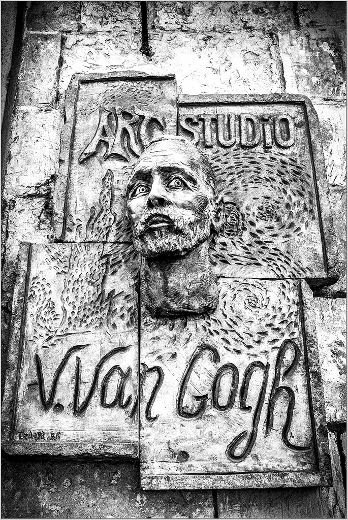 Vincent Van Gogh B&W monochrome