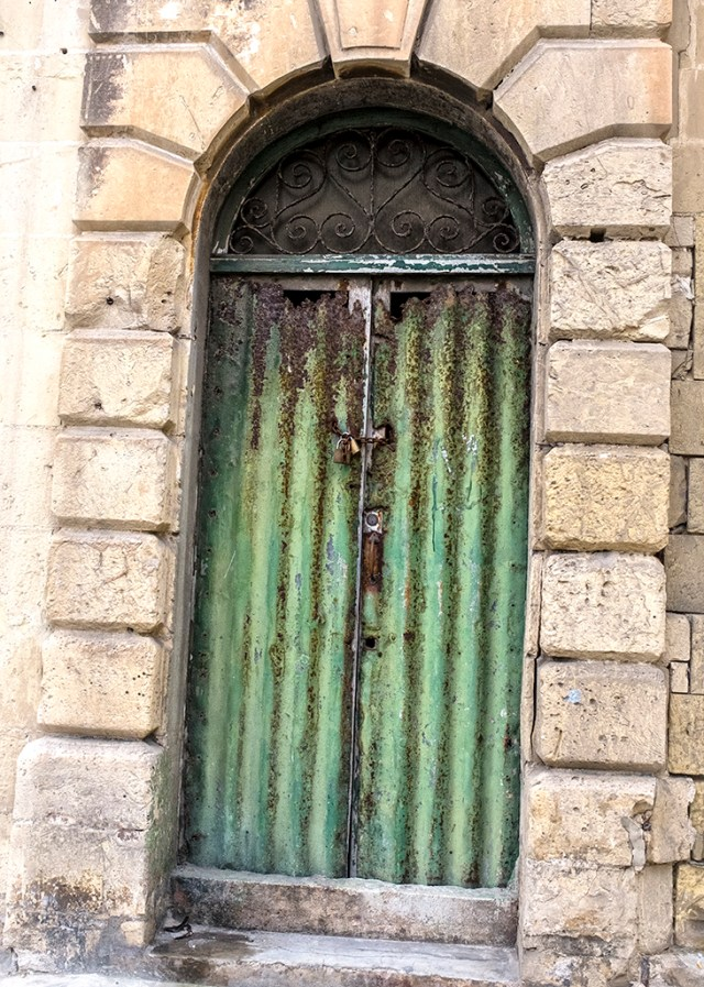Green Door, Thursday Doors, Malta, Valletta,
