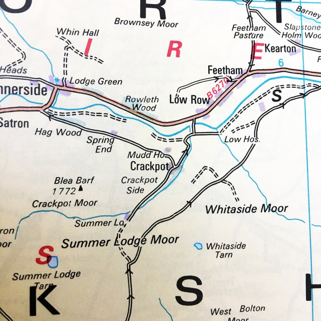 Crackpot Map Yorkshire Dales village