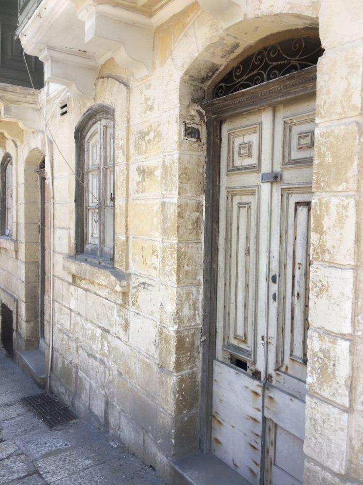 House in Valletta monochrome Birgu valletta