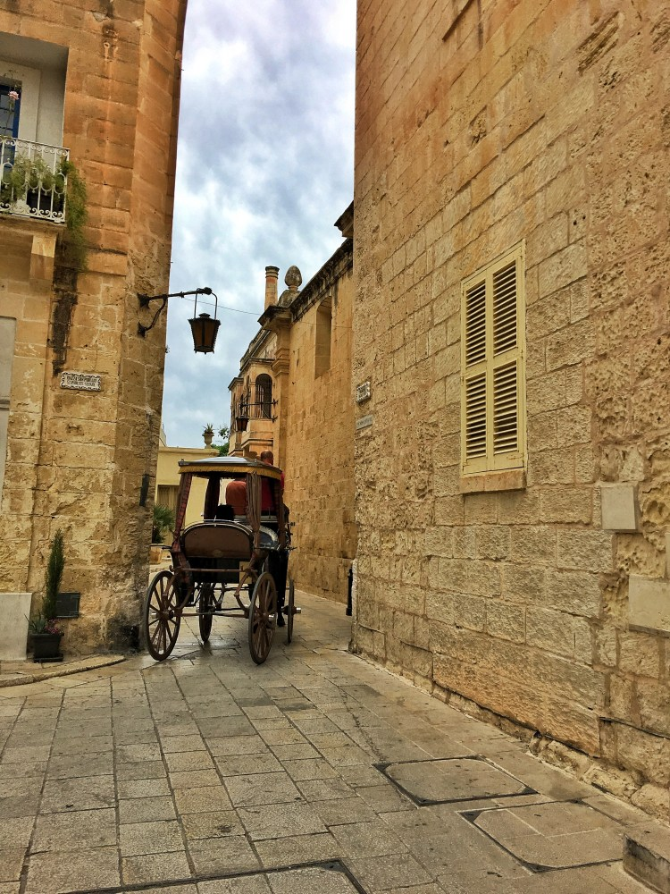 Mdina Malta Silent city oddball horse carriage