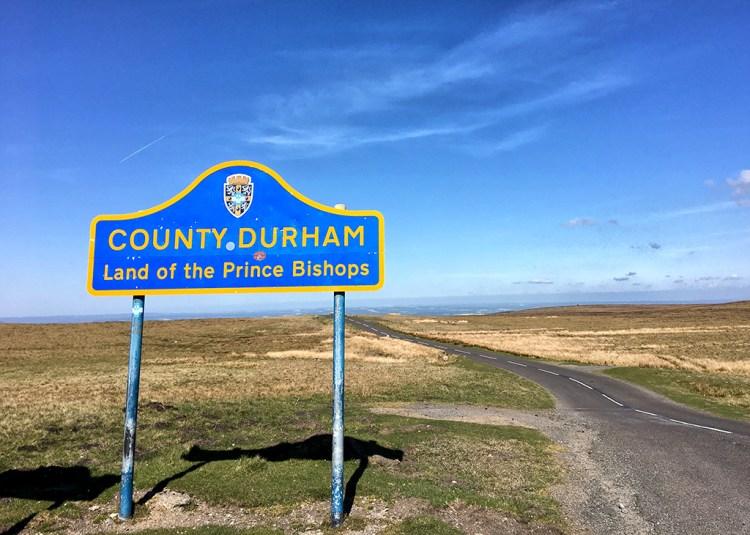 County Durham SignLand of the Prince Bishops, landscape, road , hills, landscape