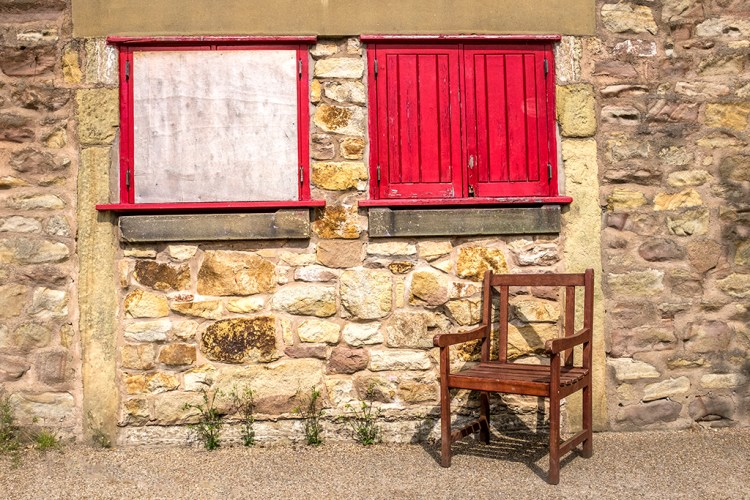 Red Shutters cafe towpath Lancaster Canal Preston