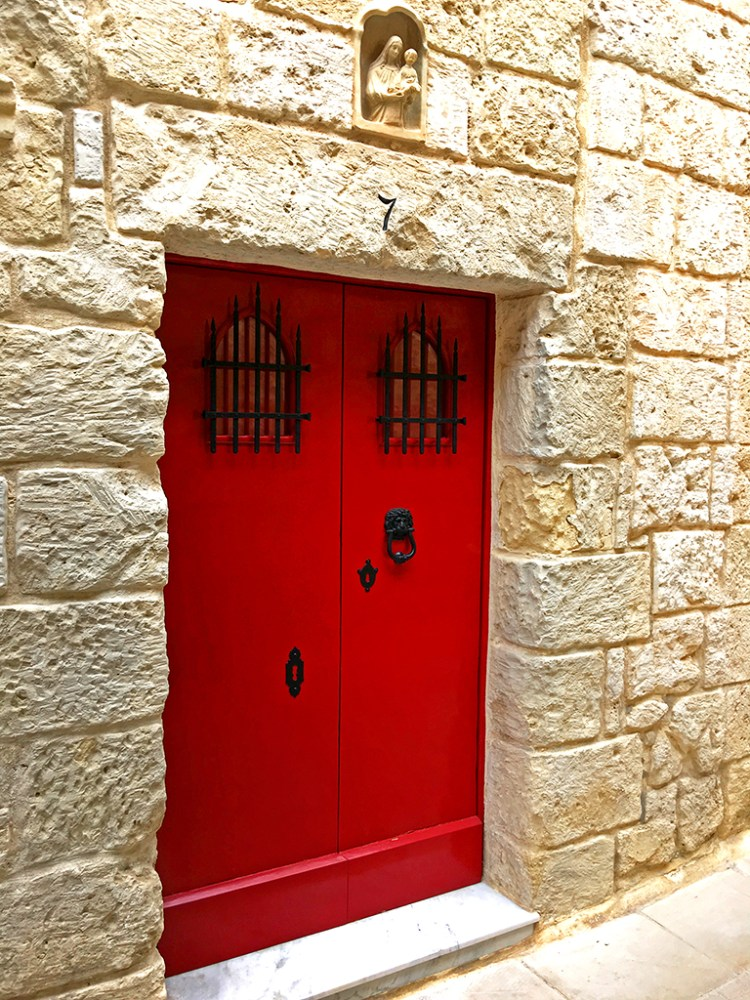 Mdina: Double Red Doors Thursday doors challenge malta Silent city