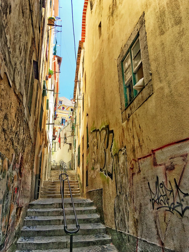 LISBON: Steps in Alfama District