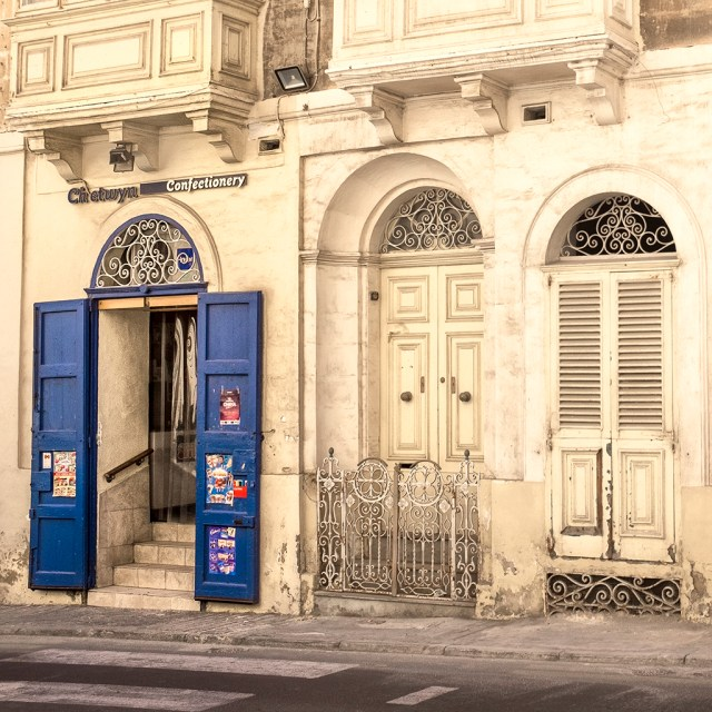 Confectionery Sweetshop Valletta Malta doors