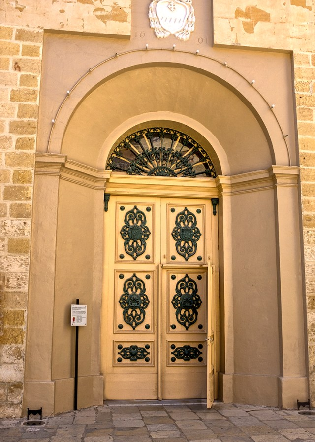 Parish Church Door Birgu Valletta Malta