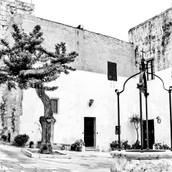 A Piazza in Mdina Silent City in Malta monochrome Black&white challenge
