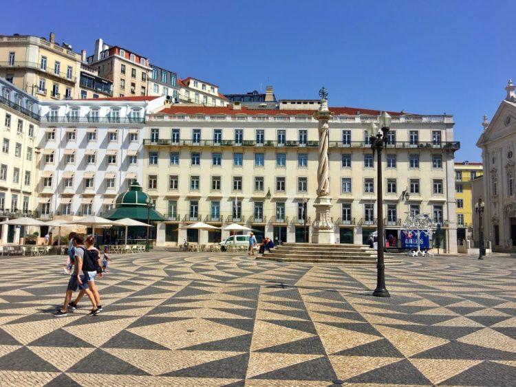 LISBON: Praça do Comércio mosaic pavement