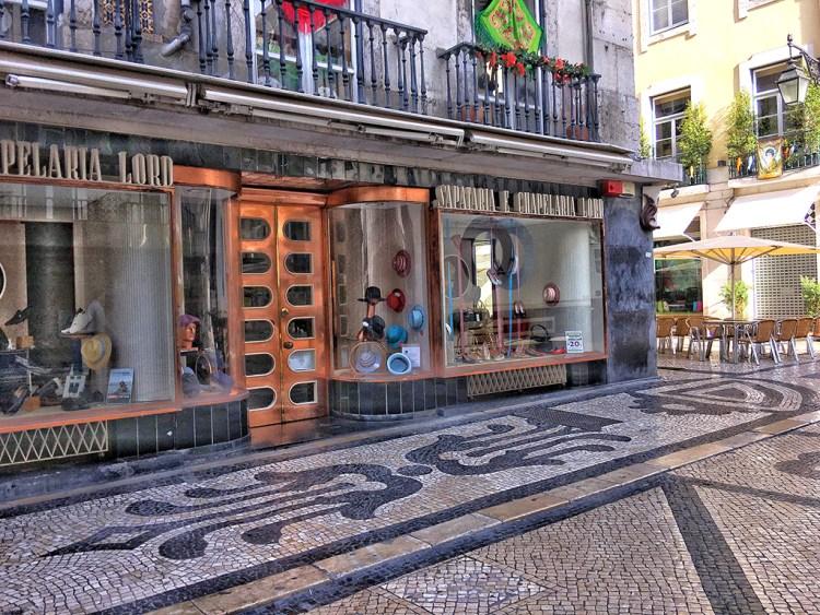 LISBON: Street Corner Rua Augusta mosaic pavement