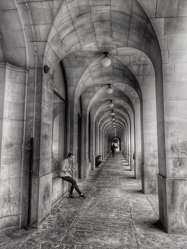 Underneath the Arches St Peter's Square Manchester monochrome Black & White Challenge snapped Hueless