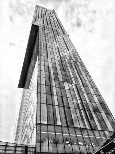 MANCHESTER: Beetham Tower Hilton Hotel monochrome Black & White
