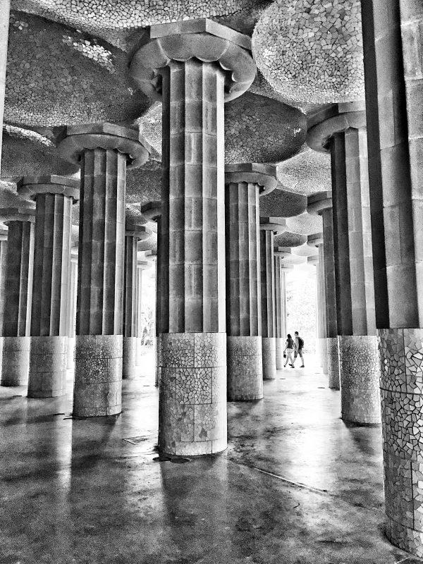 BARCELONA: ParcGüell monochrome textures