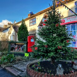 VILLAGE LIFE: The Post Office, Christmas, Lancashire , crib