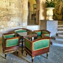 Almudaina Palace 3Palma Mallorca Empty Chairs