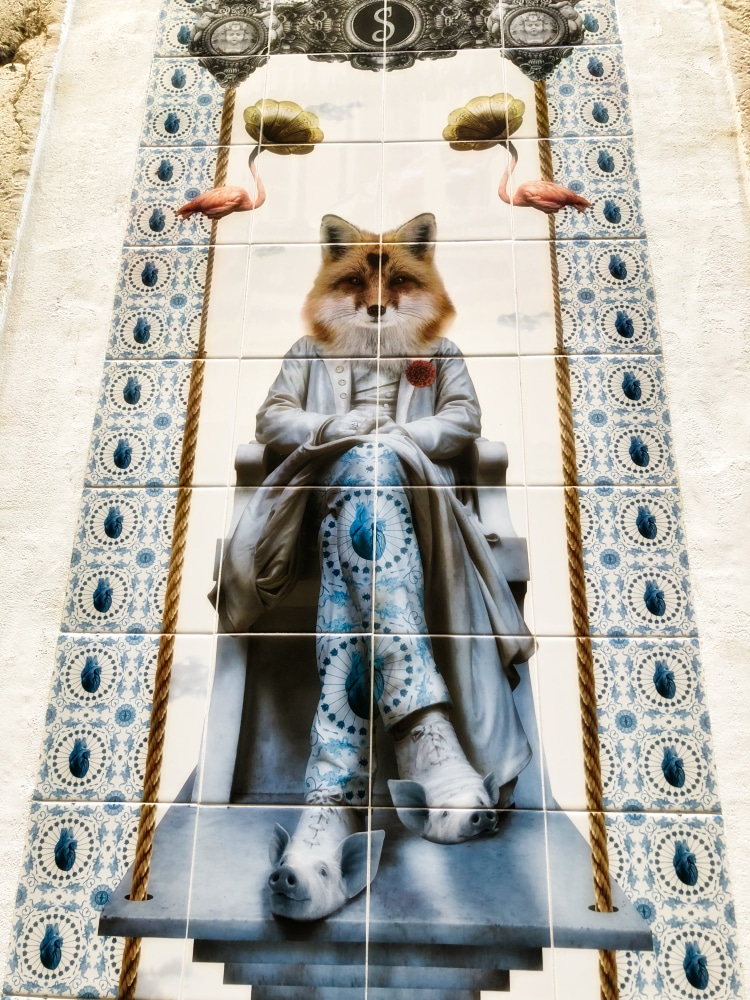Lisbon tiles oddball piglet shoes fox
