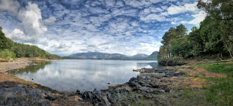 panorama, Derwentwater, Borrowdale, Lake District, landscape, scenery