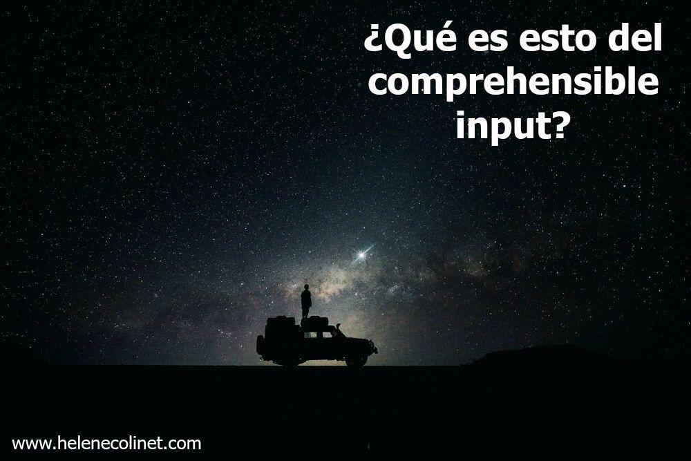 comprehensible input españa