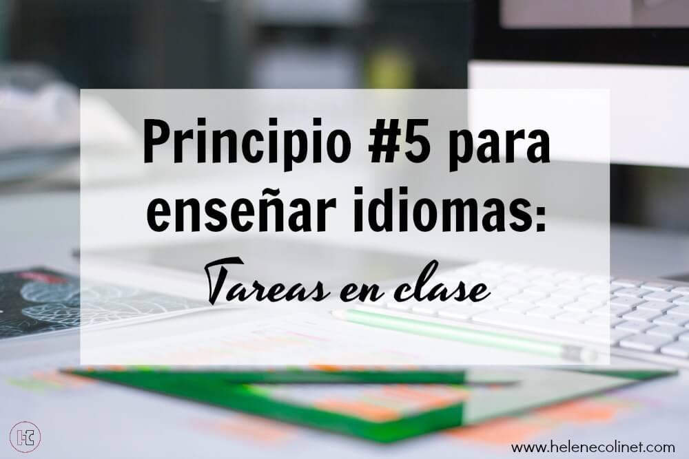 principio 5 enseñar idiomas recursos profesores idiomas helene colinet tprs ci